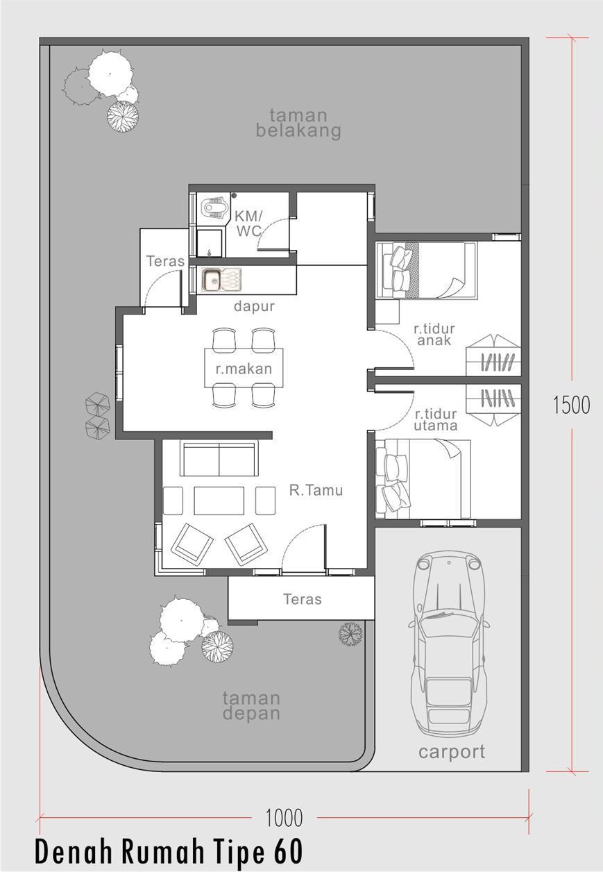 rumah sudut modern minimalis