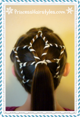 Pretty snowflake ponytail hairstyle video tutorial