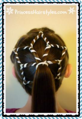 Pretty snowflake ponytail hairstyle video tutorial