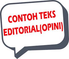CONTOH TEKS EDITORIAL TENTANG LINGKUNGAN SEKOLAH