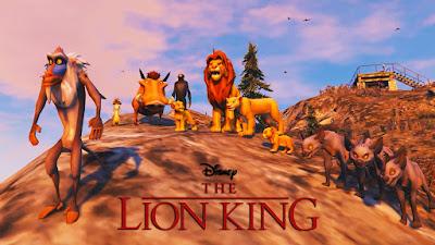 """מוד חדש של """"מלך האריות"""" ב-GTA V מאפשר לכם לשחק עם החיות האהובות מהסרטים"""