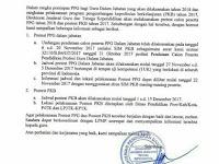 Jadwal Pelaksanaan Prestest  PPG Dalam Jabatan dan Postest PKB Tahun 2017