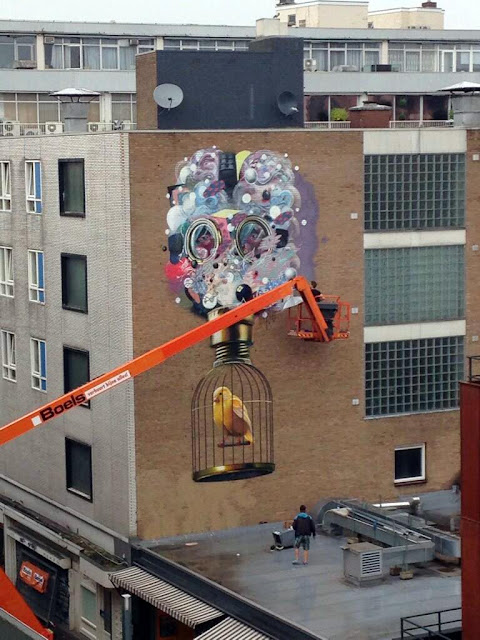Colin Van Der Sluijs at work In Heerlen, Netherlands,