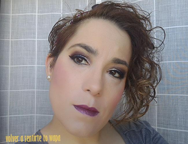 MAKE UP   delineado pin up con ojos en color