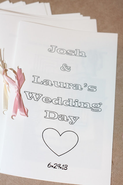 how to make a wedding activity book for kids, wedding coloring book for kids