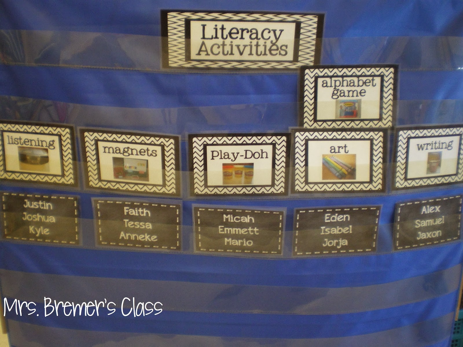Literacy Center rotation board