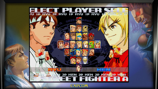 Street Fighter 30th Anniversary Collection - Street Fighter Alpha 3 - Character select screen