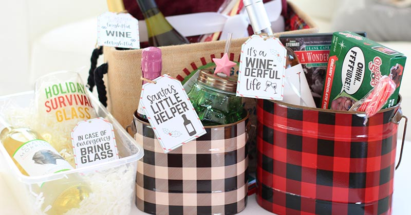 4 Fabulous Wine Gift Ideas For Christmas With Free Printable Tags Sunny Day Family