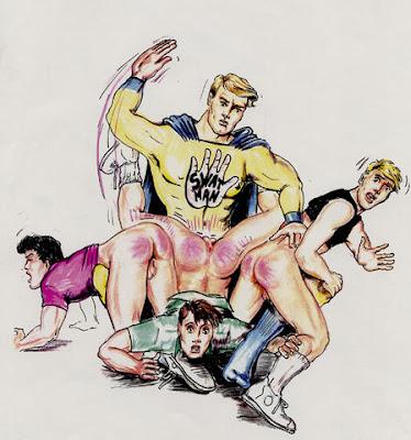 gay spanking art franco