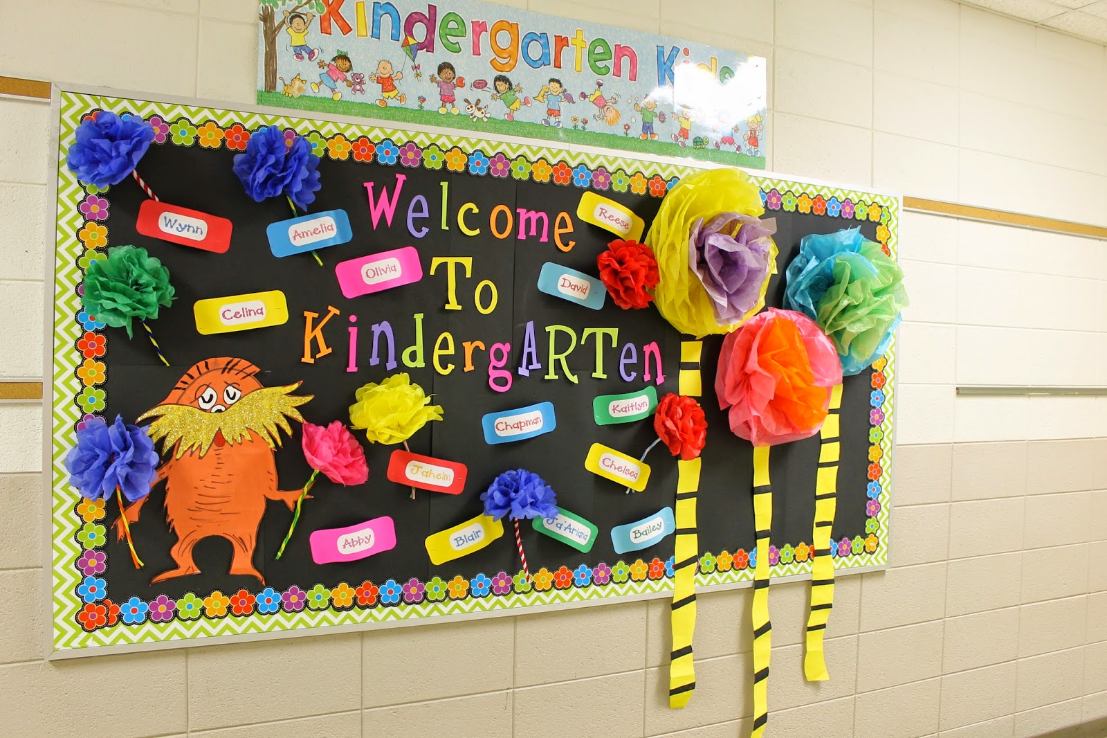 Welcome To Kindergarten Bulletin Board