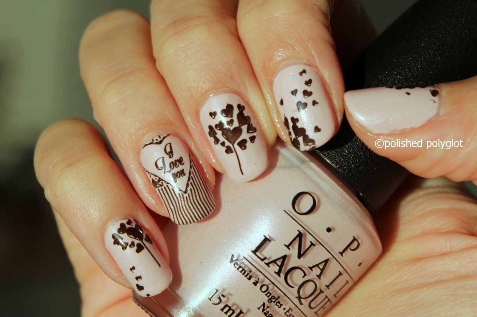 40 Great Nail Art Ideas for Valentine\'s day: Love / Polished Polyglot