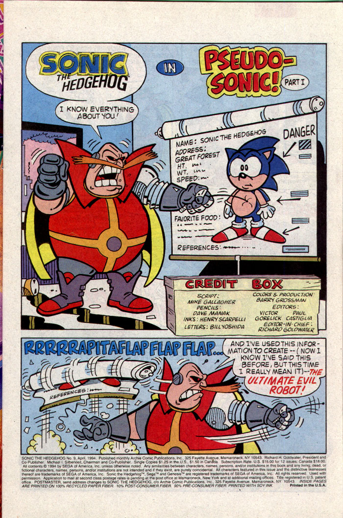 Read online Sonic The Hedgehog comic -  Issue #9 - 2