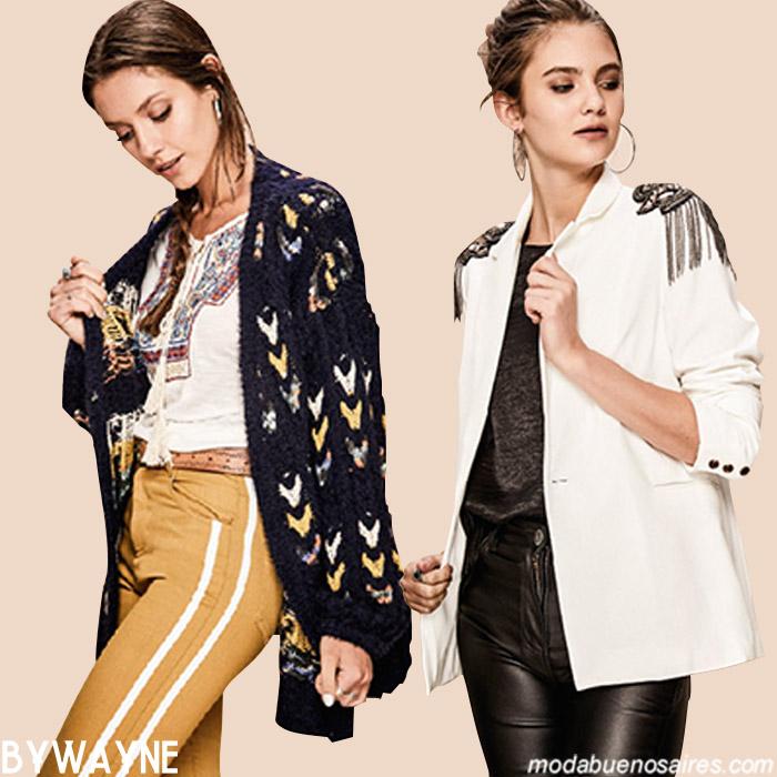 Moda invierno 2019 cardigans, sweaters y vestidos. Ropa de mujer invierno 2019.