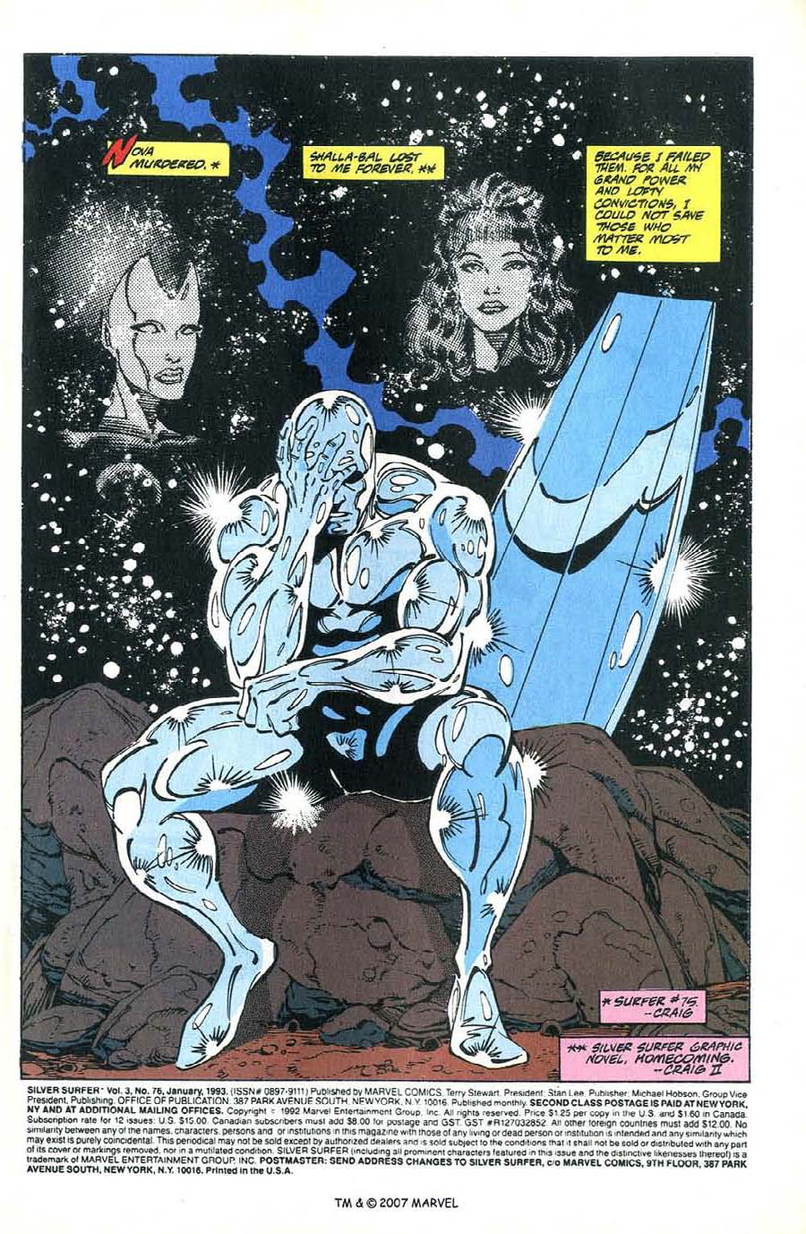 Read online Silver Surfer (1987) comic -  Issue #76 - 3