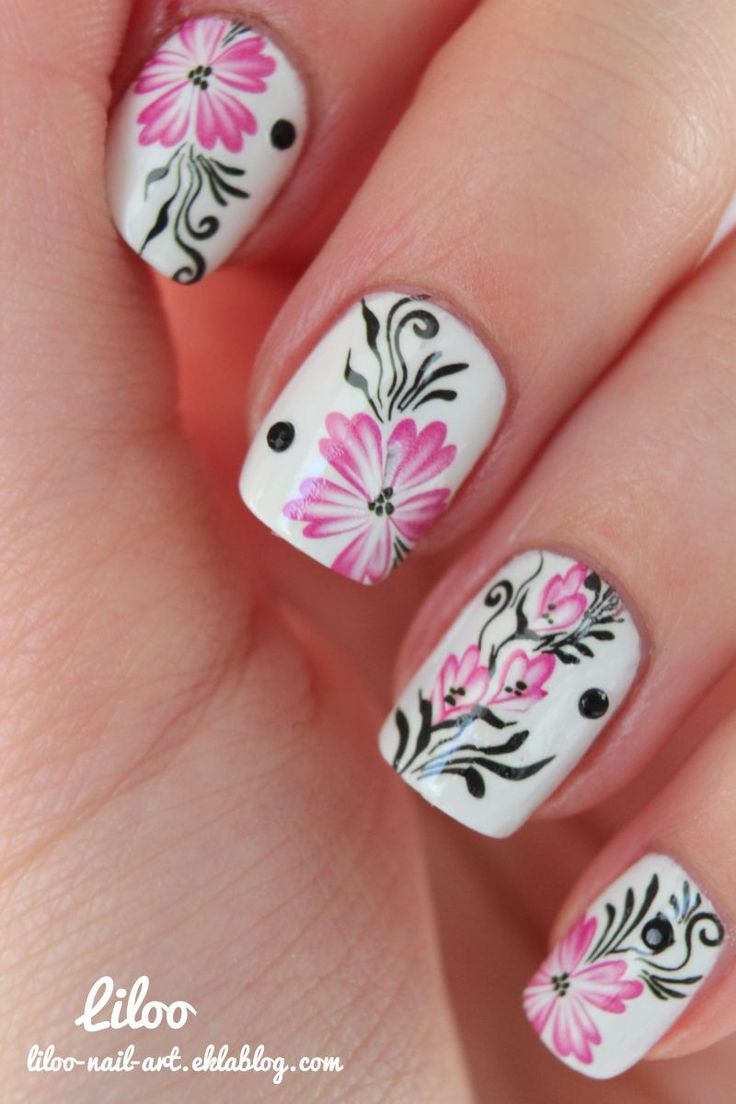 Awesome Flower Nail Designs