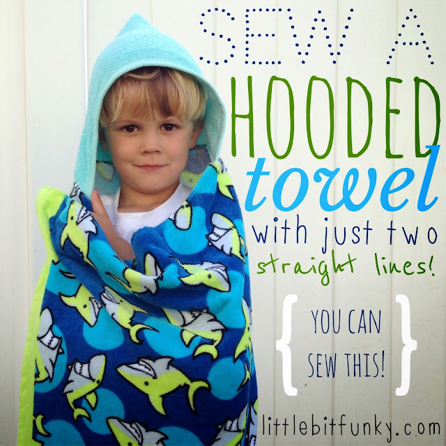 hooded towel sewing