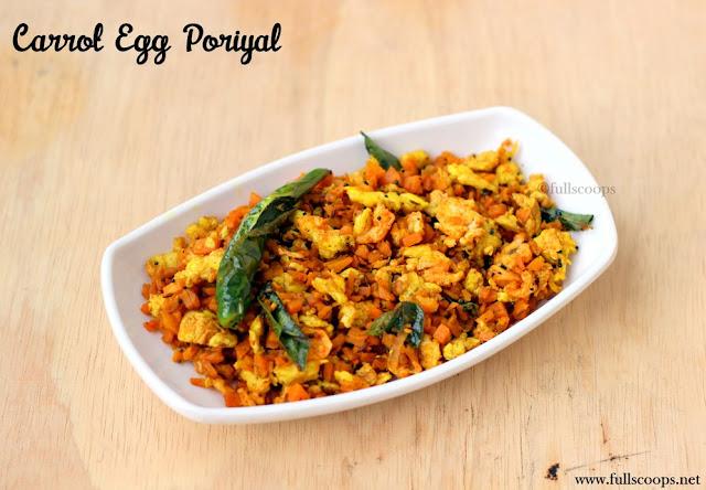 Carrot Egg Poriyal