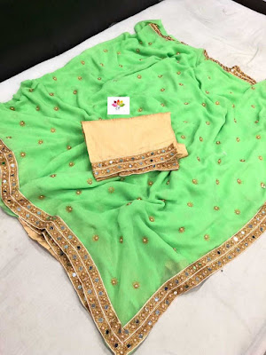 Heavy diamond work saree Marbal georgette | | Price | Cost | Collection | designs, models, pics, images, with price , online shopping