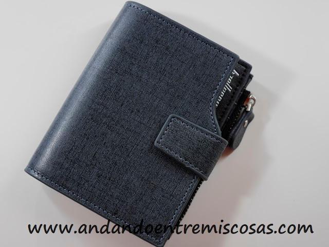 cartera para hombre en color azul