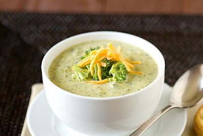Broccoli Soup with Added Cheddar