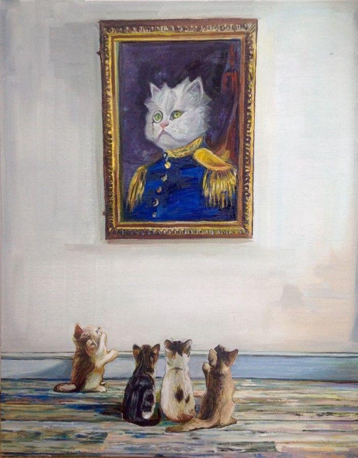 Картины с кошками. Timothy Adam Matthews