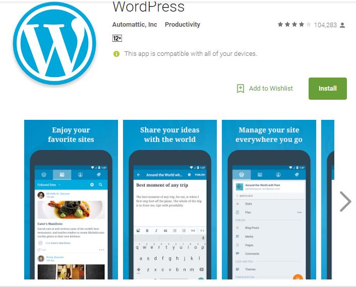 Wordpress -Website And Blog Builder Apk Update Version 18