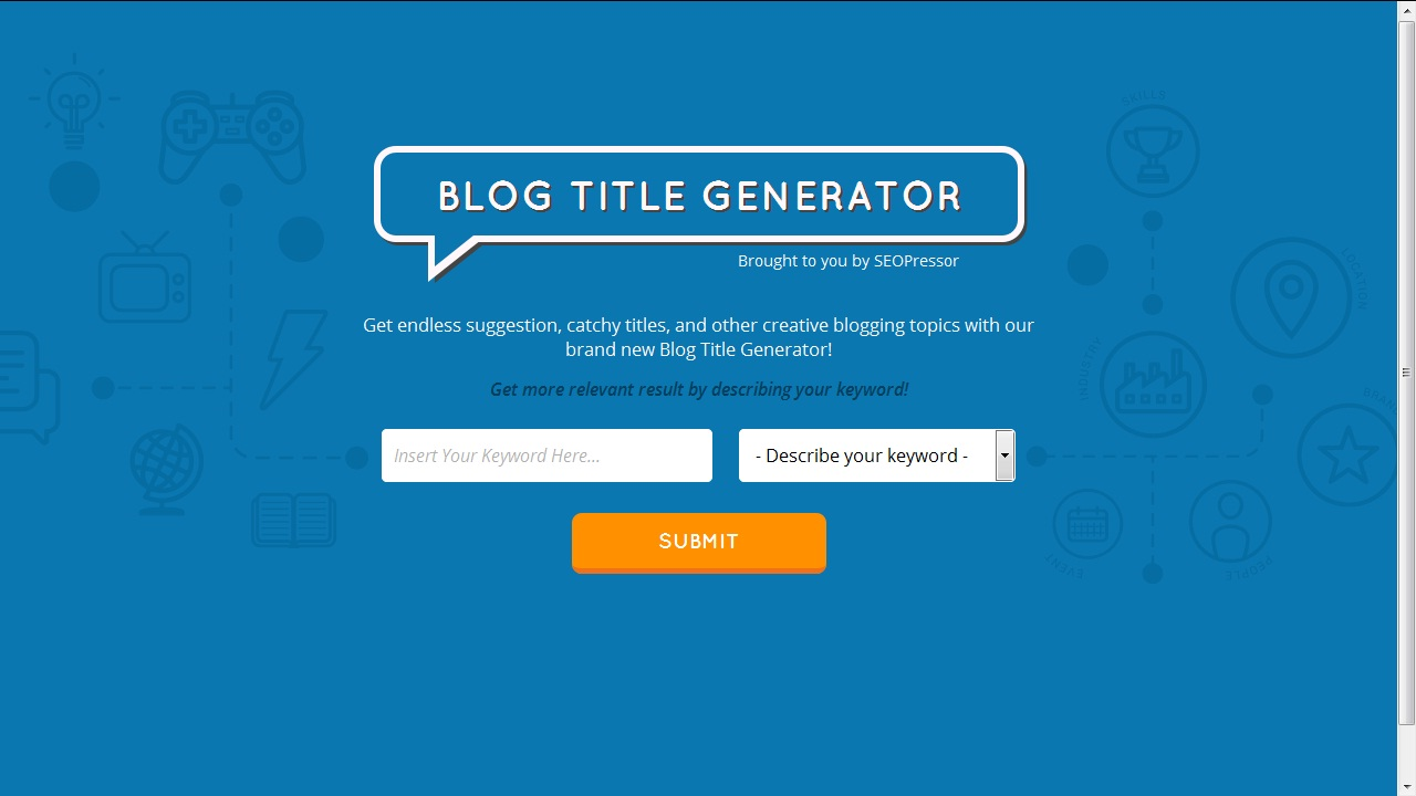 Title generator for essays