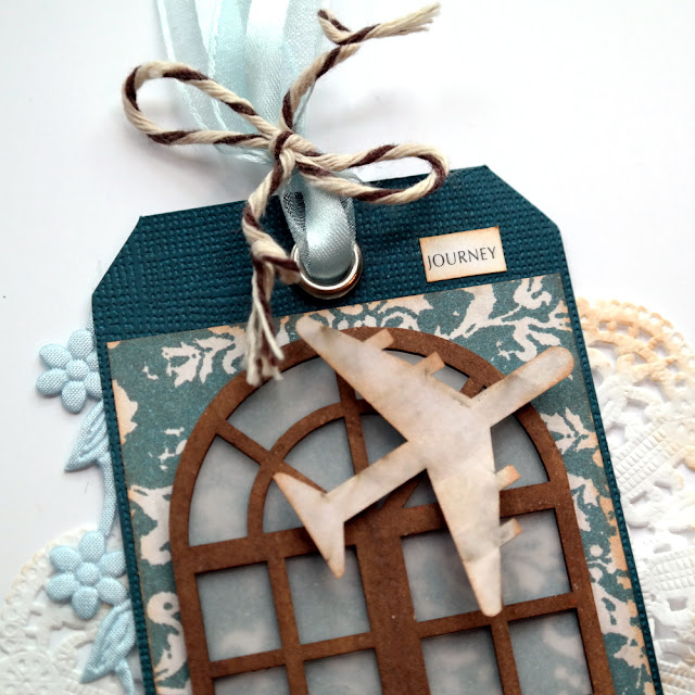 How to Use Vellum to Create a Window on a Tag by Dana Tatar