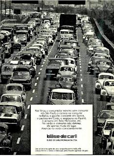 Blässe de Carli Propaganda Ltda - 1975; propaganda anos 70; década de 70; congestionamento anos 70; Oswaldo Hernandez