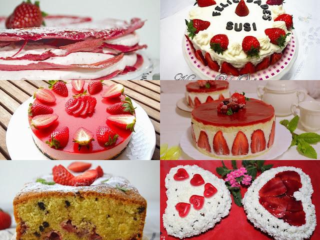 Tartas con fresas. Julia y sus recetas