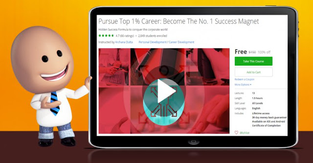[100% Off] Pursue Top 1% Career: Become The No. 1 Success Magnet|Worth 150$