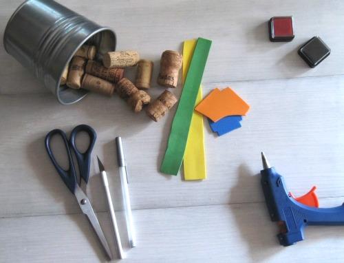 Materiales DIY sellos con goma eva