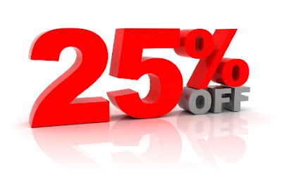 25 percent off artwork