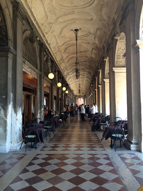 Gallery near the Piazza San Marco, Venice, Italy