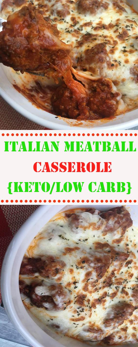Italian Meatball Casserole {Keto/Low Carb}