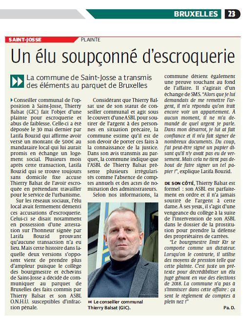 escroquerie article