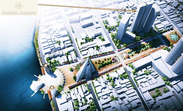 Vị trí dự án Golden Square Đà Nẵng