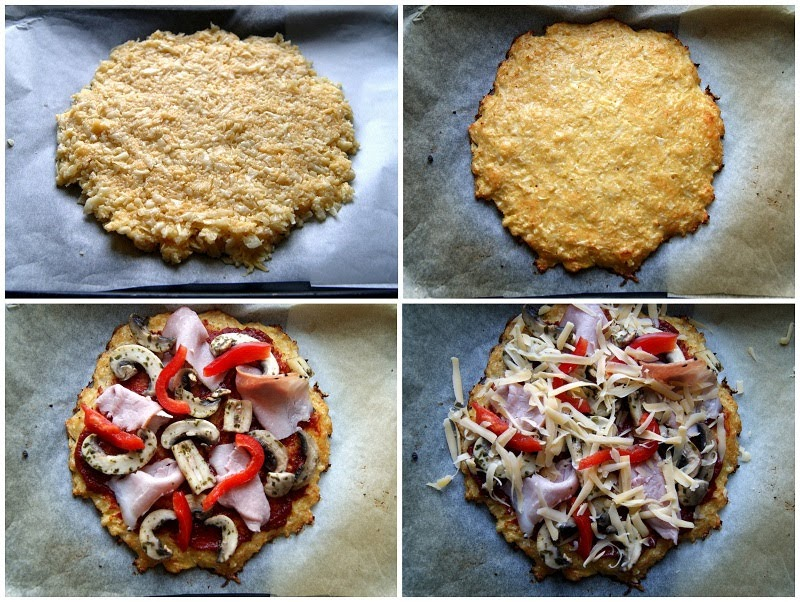 Pizza z kalafiora (bez mąki)