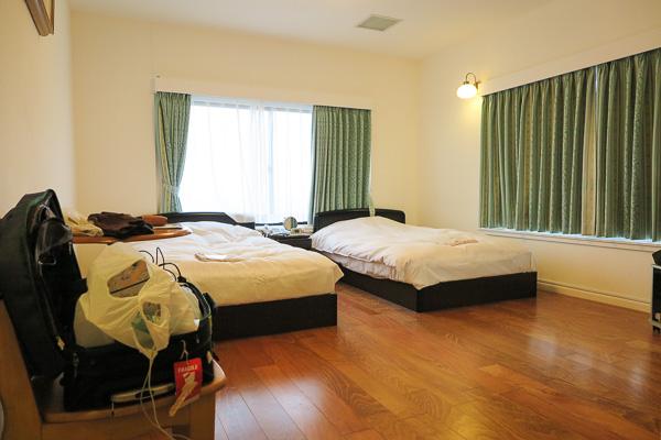 Annex guest room, Hotel Lido Azzurro, Hachijo Island, Japan.