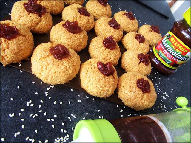 Ciastka z Kleiku Ryżowego z Dodatkiem Sezamu
