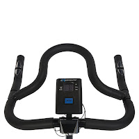 Multi-grip handlebars & LCD monitor on Exerpeutic LX7 Indoor Cycle Trainer