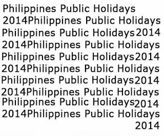 List of Philippines Public Holidays 2014 Officially Released