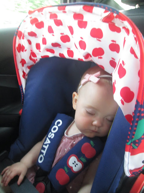 Project 365 - Traveling in the car seat fast asleep