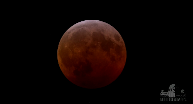 eclipsed Moon from California