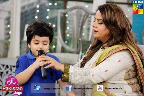 Aaliya Imam with her son Almeer