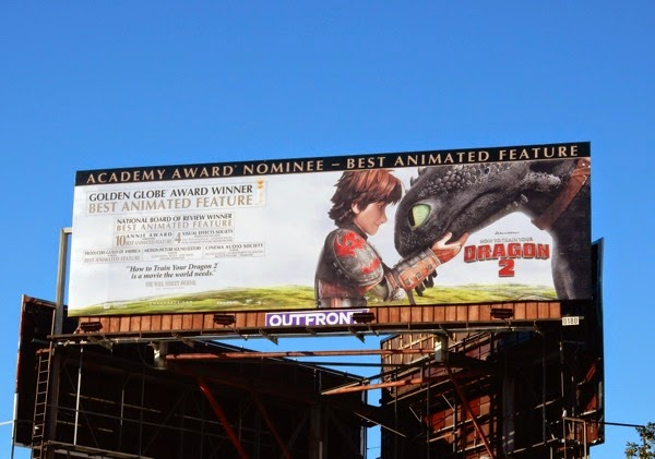 How to Train Your Dragon 2 Oscar nominee billboard