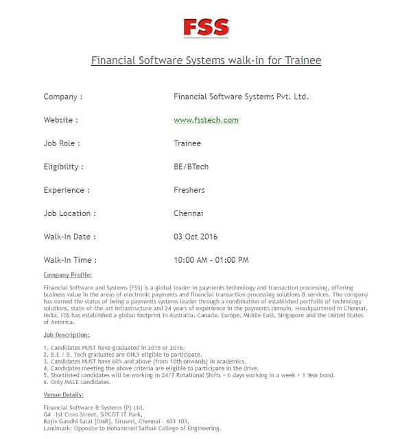 FSS walk-in