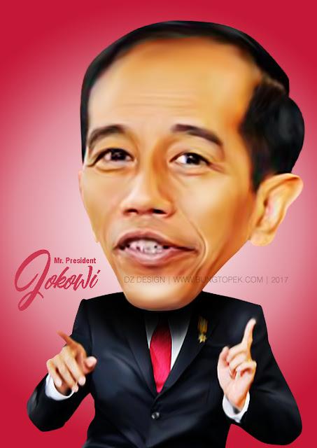 Karikatur Pak Jokowi (Presiden Ke-7 Indonesia)