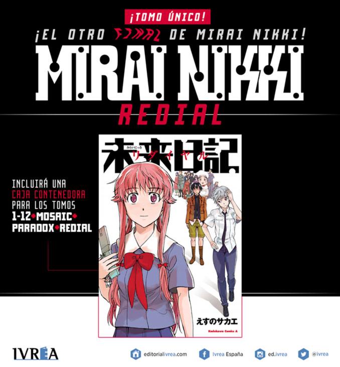 Mirai Nikki Redial manga (Ivrea)