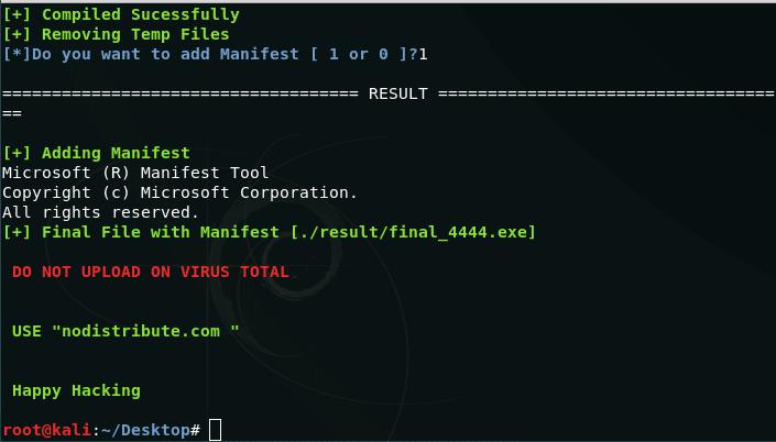 HackTheWorld - Công cụ tạo tệp tin có chứa Payloads có thể bypass gần hết các AntiVirus